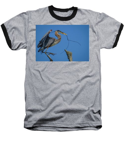 Great Blue Heron 4034 Baseball T-Shirt
