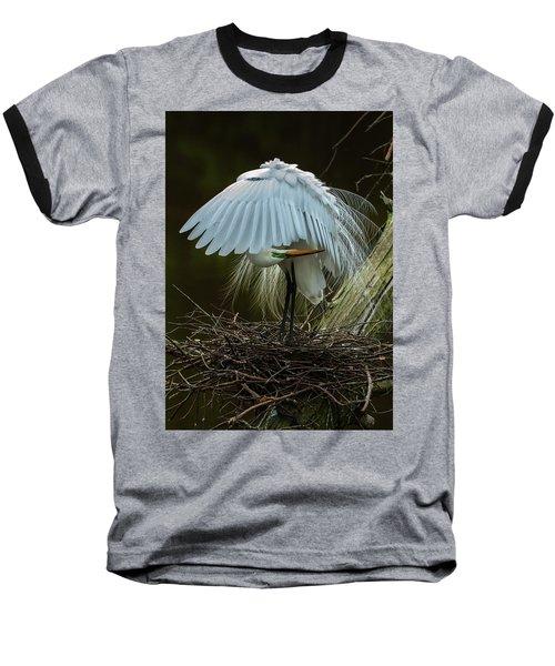 Great Egret Beauty Baseball T-Shirt
