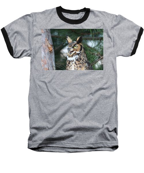 Great Horned Owl 5151801 Baseball T-Shirt