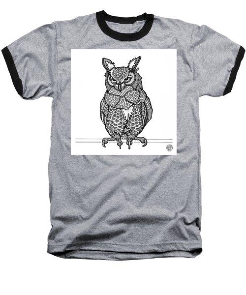 Great Horned Owl Baseball T-Shirt