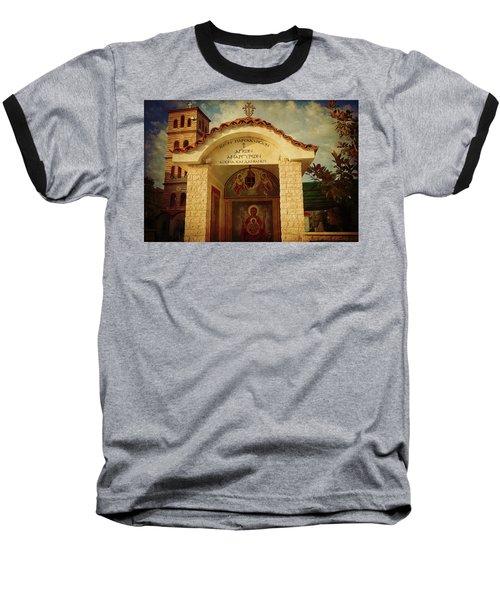 Baseball T-Shirt featuring the photograph Greek Church by Milena Ilieva