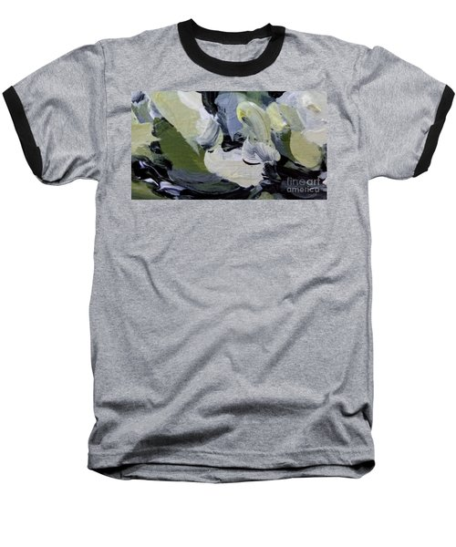 Baseball T-Shirt featuring the painting Green #2 by Maria Langgle