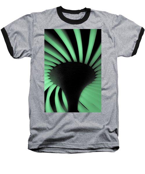 Green Fan Ceiling Baseball T-Shirt