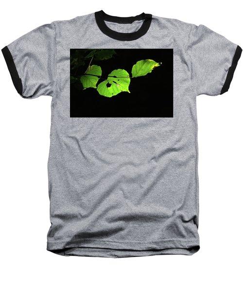 Green Leaves Baseball T-Shirt