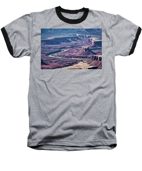 Baseball T-Shirt featuring the photograph Green River Moonscape by Andy Crawford