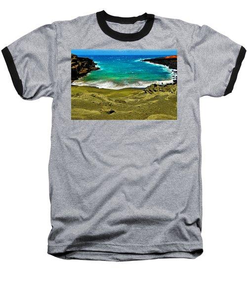 Green Sand Beach Baseball T-Shirt