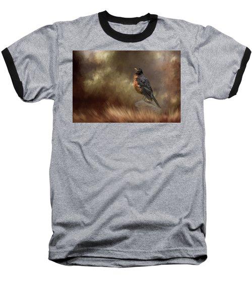 Greeting Autumn Baseball T-Shirt