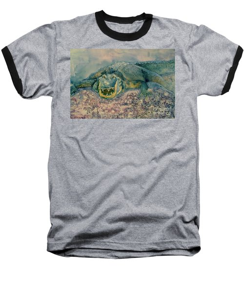 Grinning Gator Baseball T-Shirt