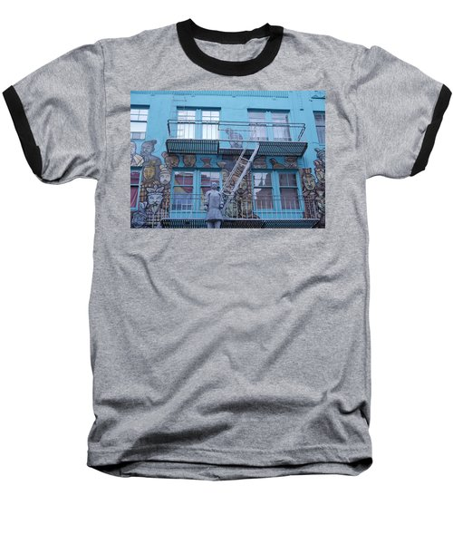 Guarding The Stairs Baseball T-Shirt