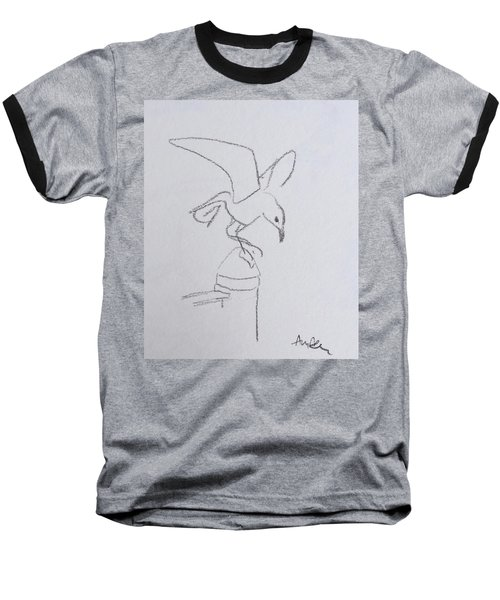 Gull On Pier Baseball T-Shirt