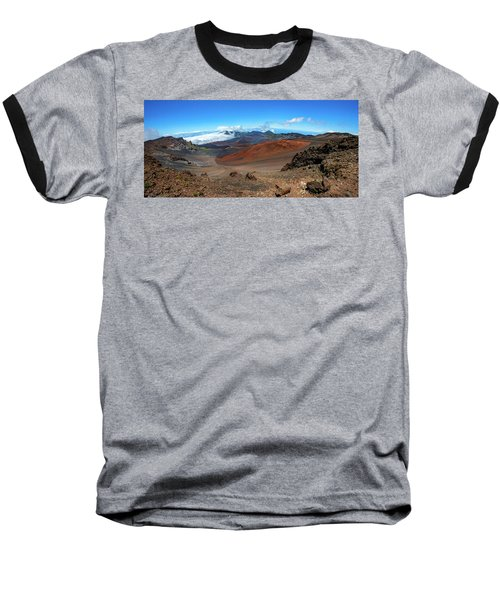 Haleakala Crater Panoramic Baseball T-Shirt