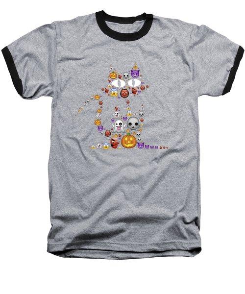 Halloween Cat Baseball T-Shirt