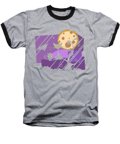 Happy Halloween Cat Baseball T-Shirt