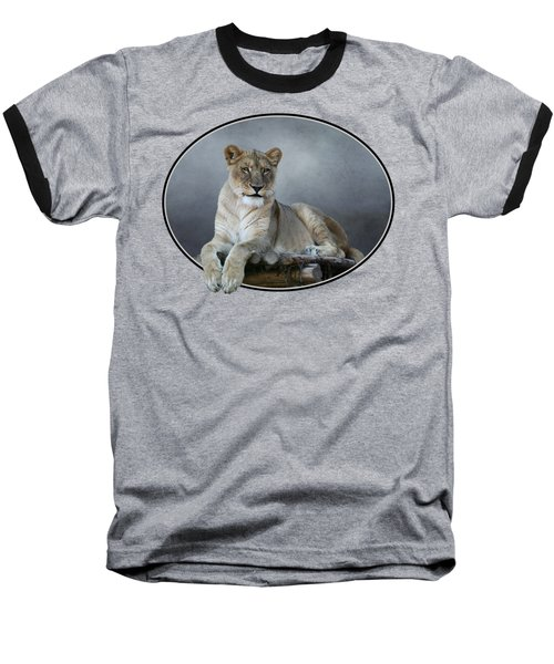 Happy Lioness Baseball T-Shirt