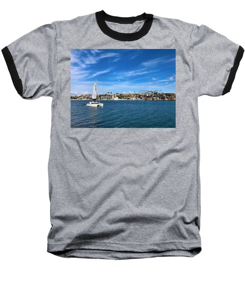 Harbor Sailing Baseball T-Shirt