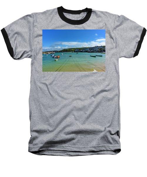 Harbour To Porthminster St Ives Cornwall Baseball T-Shirt