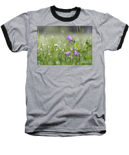 Harebells And Water Drops Baseball T-Shirt