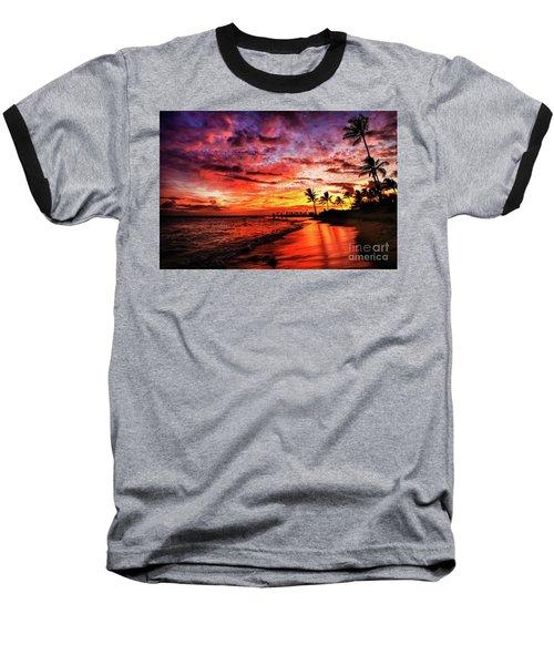 Hawaiian Sunset Baseball T-Shirt