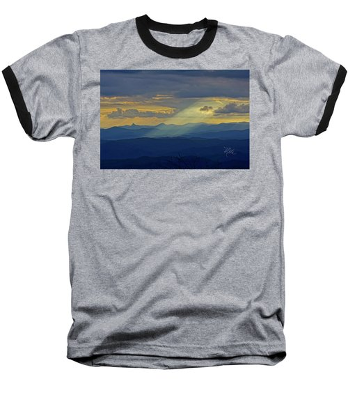 Hawks Bill Mountain Sunset Baseball T-Shirt