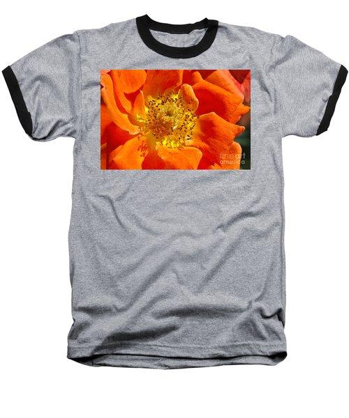 Heart Of The Orange Rose Baseball T-Shirt