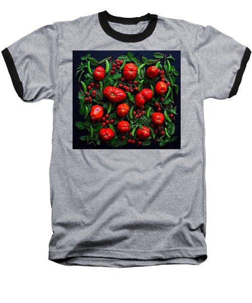 Heirloom Tomatoes And Peas Baseball T-Shirt
