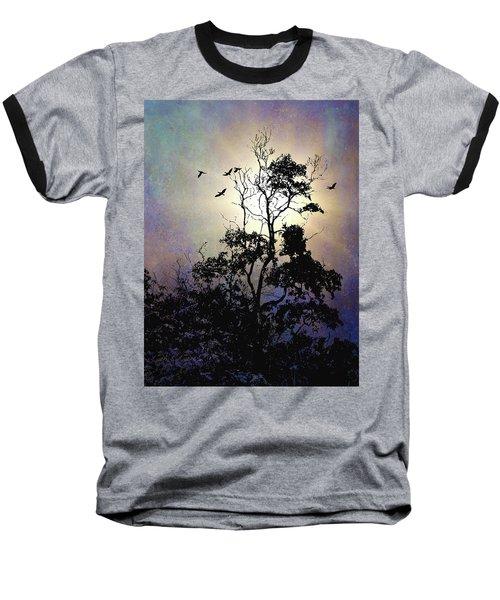 Herons At Dusk Baseball T-Shirt