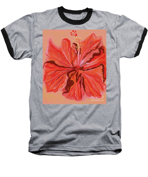 Hibiscus Color Lines Baseball T-Shirt