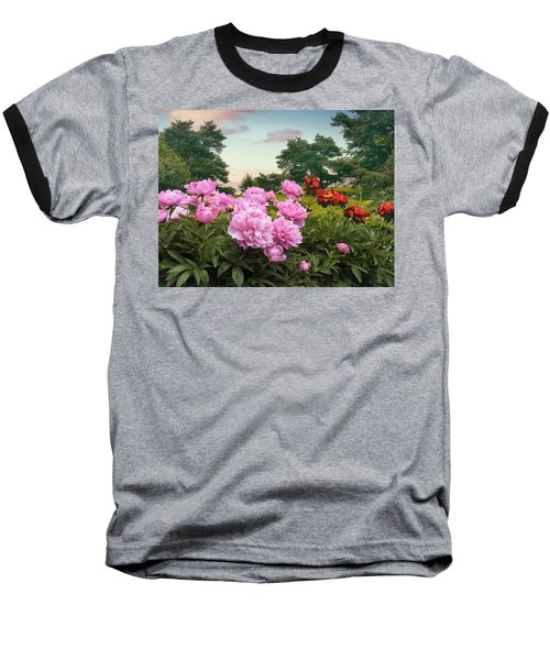 Hillside Peonies Baseball T-Shirt