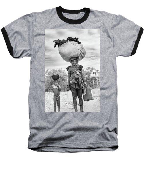 Himba Both Carrying  Baseball T-Shirt