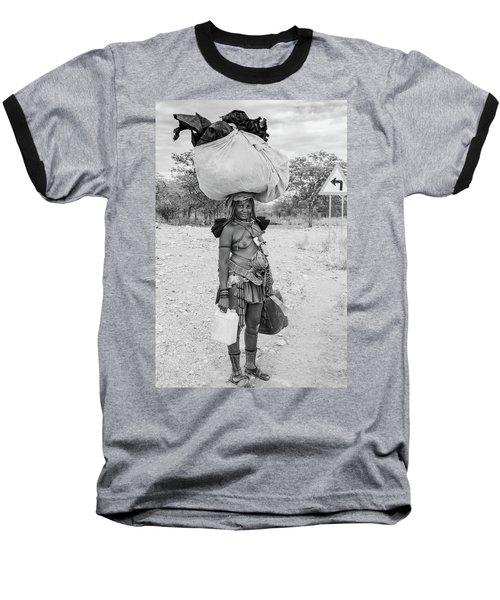 Himba Woman 3 Baseball T-Shirt