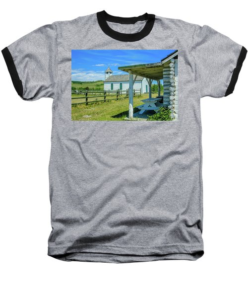 Historic Mcdougall Church, Morley, Alberta, Canada Baseball T-Shirt