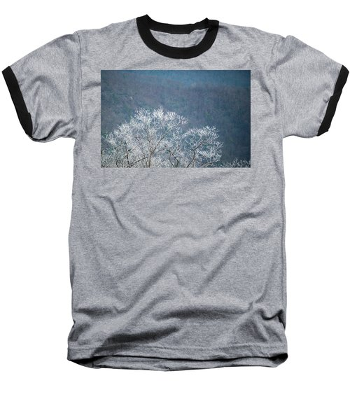 Hoarfrost Collects On Branches Baseball T-Shirt