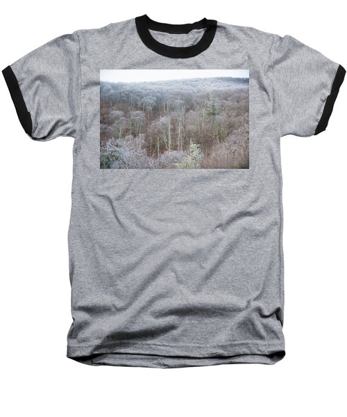 Hoarfrost In The Tree Tops Baseball T-Shirt