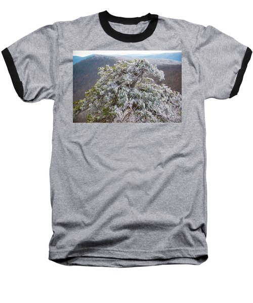 Hoarfrost On Trees Baseball T-Shirt