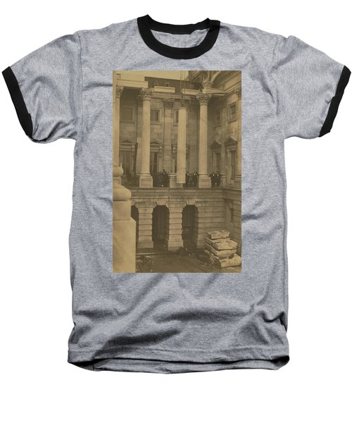 Hoisting Final Marble Column At United States Capitol Baseball T-Shirt
