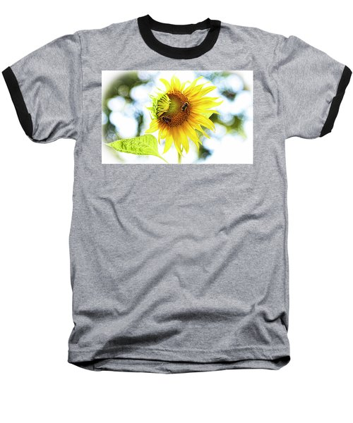 Honey Bees On Sunflower Baseball T-Shirt