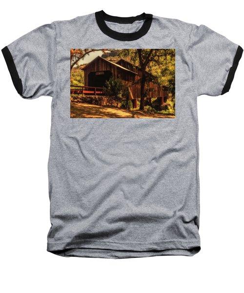 Honey Run Covered Bridge Baseball T-Shirt