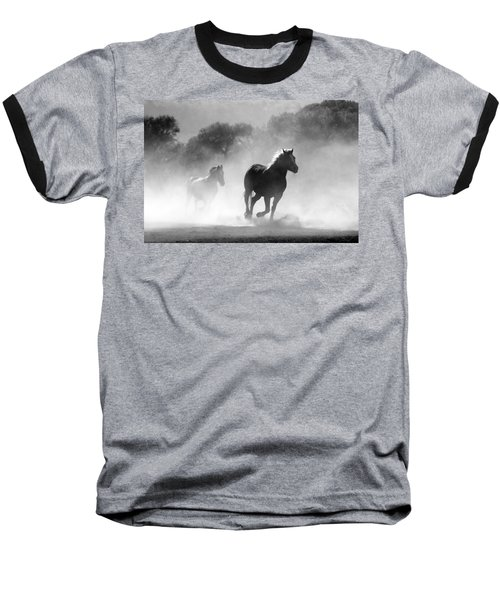 Horses On The Run Baseball T-Shirt
