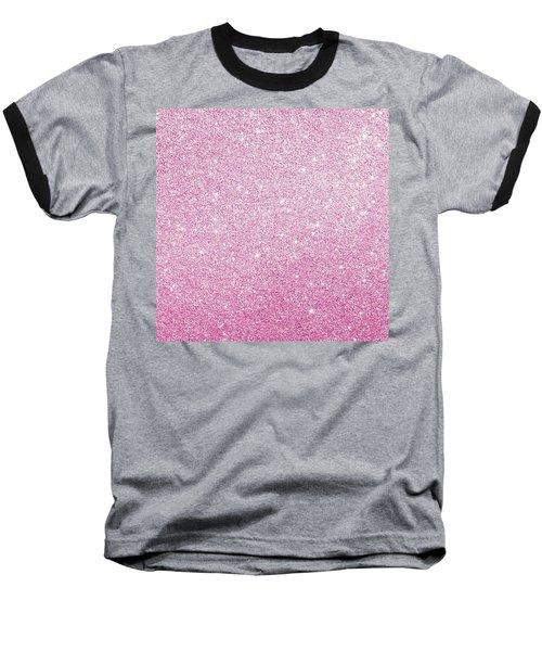 Hot Pink Glitter Baseball T-Shirt