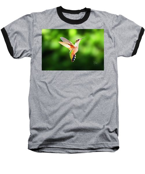 Hummingbird Hovering Baseball T-Shirt