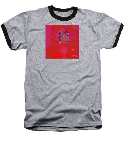 Hummingbirds Red Fantasy Baseball T-Shirt