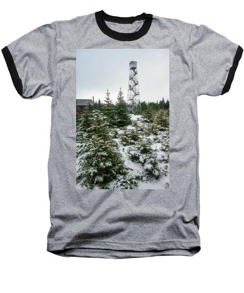 Hunter Mountain Fire Tower Baseball T-Shirt