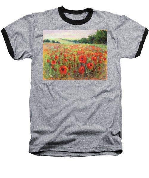 I Dream Of Poppies Baseball T-Shirt