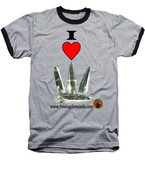 I Love Lemurian Seed Crystals Baseball T-Shirt