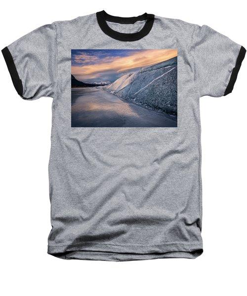 Ice Sheets On Abraham Lake Baseball T-Shirt