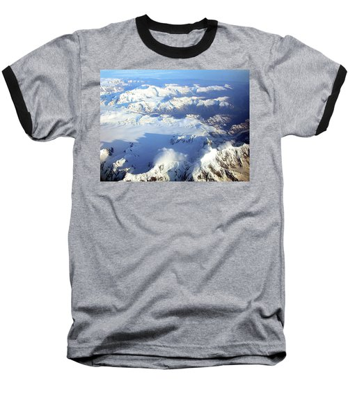 Icebound Mountains Baseball T-Shirt