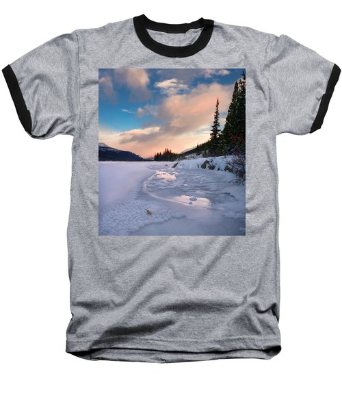 Icefields Parkway Winter Morning Baseball T-Shirt