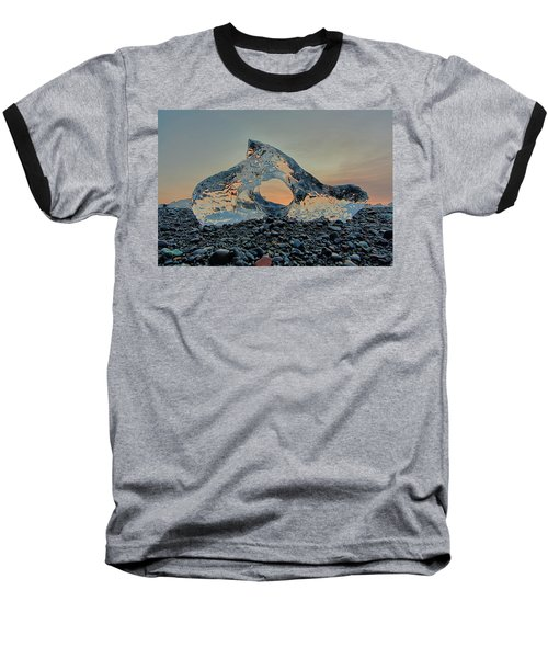 Iceland Diamond Beach Abstract  Ice Baseball T-Shirt