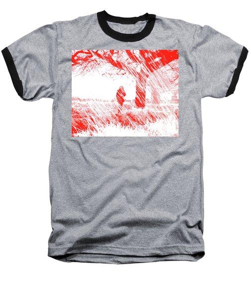 Icy Shards Fall On Setttled Snow Baseball T-Shirt