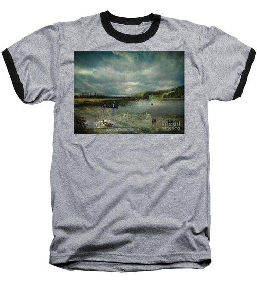 Idyllic Swans Lake Baseball T-Shirt